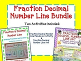 Fraction Decimal Number Line BUNDLE: Hands-On Activity and ART