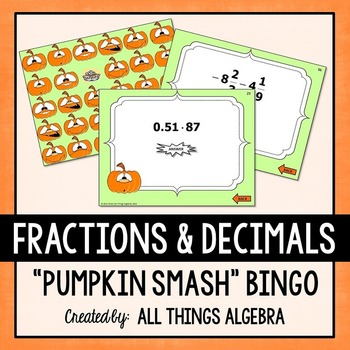 Fraction and Decimal Operations Bingo