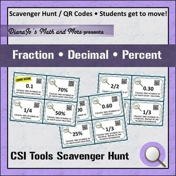 6th Grade Math Fraction Decimal Percent Activity Bundle