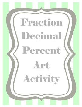 Fraction Decimal Percent Art Activity