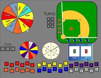 Fraction, Decimal, Percent Baseball