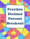 Fraction Decimal Percent Breakout (Digital Escape Room)