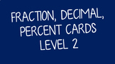 Equivalent Fraction, Decimal & Percent Cards Level 2