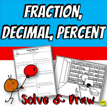 Fraction Decimal Percent Conversion Coloring Practice