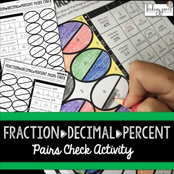 Fraction Decimal Percent Conversion Pairs Check Activity