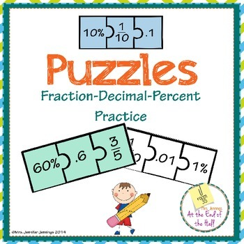 Fraction-Decimal-Percent Conversion Puzzle Practice