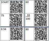 Fraction Decimal Percent Conversion QR Code Treasure/Scave
