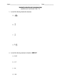 Fraction / Decimal / Percent Conversion Quiz (Regular and