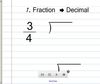 Fraction Decimal Percent Conversion SMART Notebook Lesson