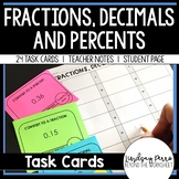 Fraction Decimal Percent Conversion Task Cards