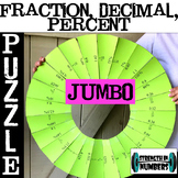Fraction Decimal Percent Conversions JUMBO Circle Puzzle
