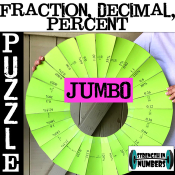 Fraction Decimal Percent Conversions JUMBO Circle Puzzle