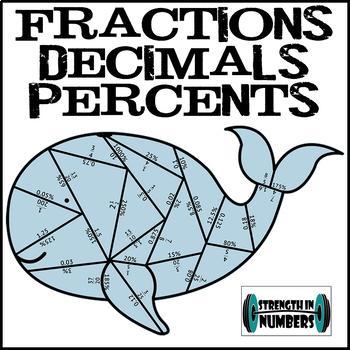 Fraction Decimal Percent Conversions Whale Puzzle