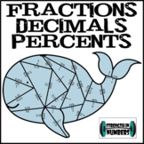 Fraction Decimal Percent Conversions Whale Puzzle