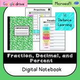 Fraction, Decimal, Percent Digital Notebook (VA SOL 6.2)-D