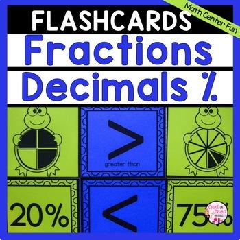 Fraction Decimal Percent Flashcards