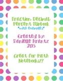Fraction, Decimal, Percent Flipbook