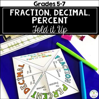 Converting Fractions, Decimals, and Percents Fold it Up