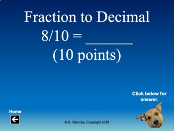 Fractions, Decimals, & Percents Jeopardy