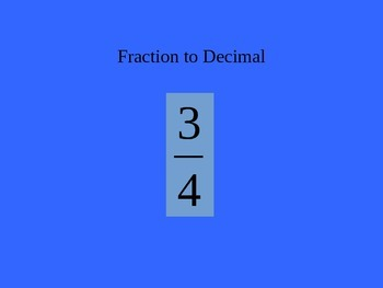 Fraction, Decimal, & Percent Jeopardy