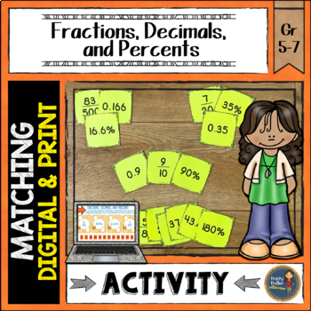 Fractions Decimals Percents Match