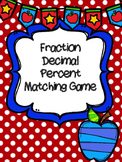Fraction Decimal Percent Matching Game