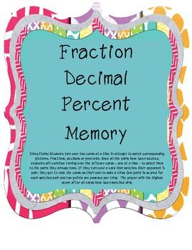 Fraction Decimal Percent Memory
