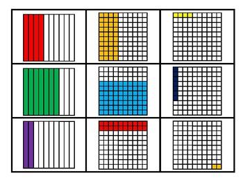 Fraction, Decimal, & Percent Memory Game