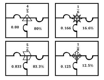 Fraction-Decimal-Percent Puzzle