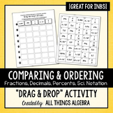 Fraction, Decimal, Percent, Scientific Notation Activity