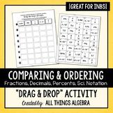 Fraction, Decimal, Percent, Scientific Notation Activity