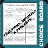 CHOICE BOARD Fraction Decimal Percent Differentiated NO PR