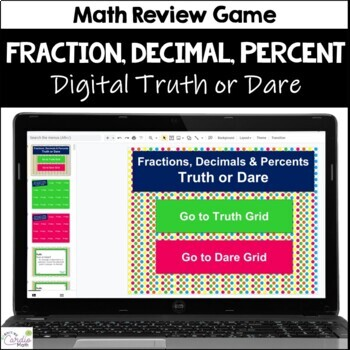 Fractions, Decimals, & Percents Truth or Dare Math Game for Google Classroom