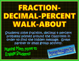 Fraction-Decimal-Percent Walk-About Activity