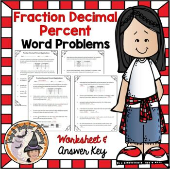Fractions Decimals Percents Converting Word Problems Pract