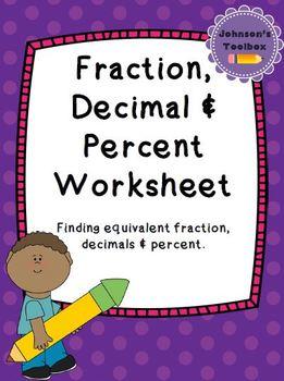 Fraction, Decimal & Percent Conversion Worksheet
