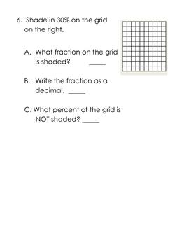 Fraction, Decimal, Percent Worksheet Packet