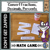 Fractions, Decimals, Percents Don't Get ZAPPED Math Game