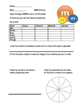 Fraction Decimal Percent review activity w/probability, proportions