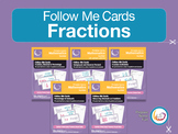 Fraction, Decimal & Percentage Follow Me Cards Bundle