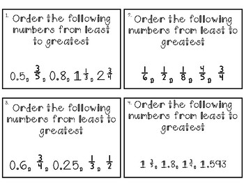 Fraction Decimal SCOOT Activity - Comparing, Ordering, Rounding