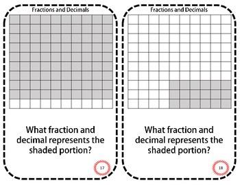 Fraction-Decimal Task Cards