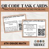Fraction & Decimal Task Cards (Real World Word Problems)