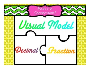 Fraction, Decimal, Visual Model Puzzle {Making Connections}