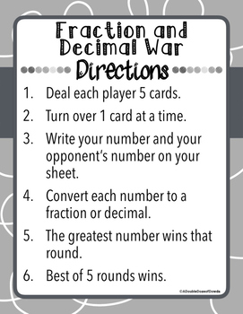 Fraction Decimal War
