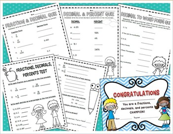 Fraction, Decimal, and Percent (Activities, Student Sheets, Assessments)