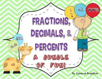 Fraction, Decimal, and Percent (Activities, Student Sheets