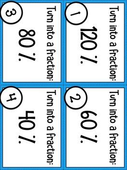 Fraction, Decimal, and Percent BINGO (STAAR Test Prep / 6.4G)