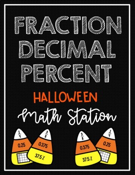 Fraction Decimal and Percent Candy Corn Station