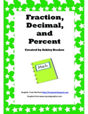 Fraction, Decimal, and Percent Conversion Practice